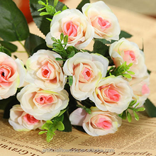 Old-fashioned house decoration silk roses bouquet