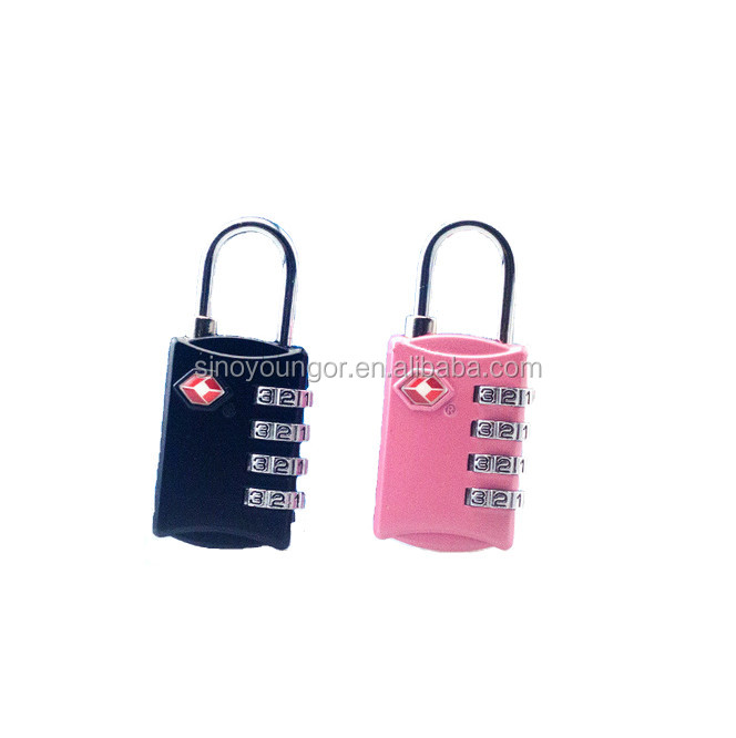 Factory price approved 4 dials air travel combination TSA lock
