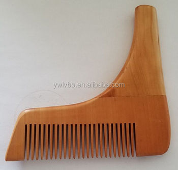 Popular Wooden Beard Shaping Tool,Anti-Static Wooden Hair Template Wood Bristles for man beard tool accessores