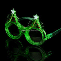 Christmas led glasses Green led color party glasses