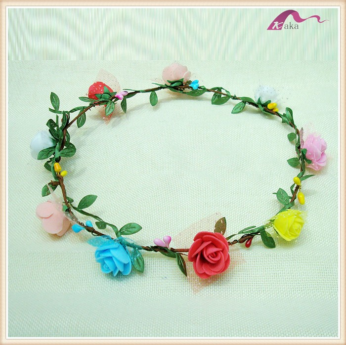 Colorful Indian Wedding Garland Decorative Flower Head Wreath