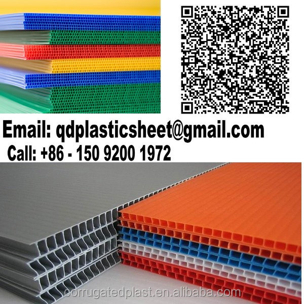 Black White Polypropylene Material Corrugated Plastic 10mm
