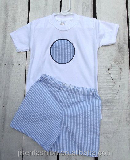 seersucker cusomed monogram summer baby boy clothes