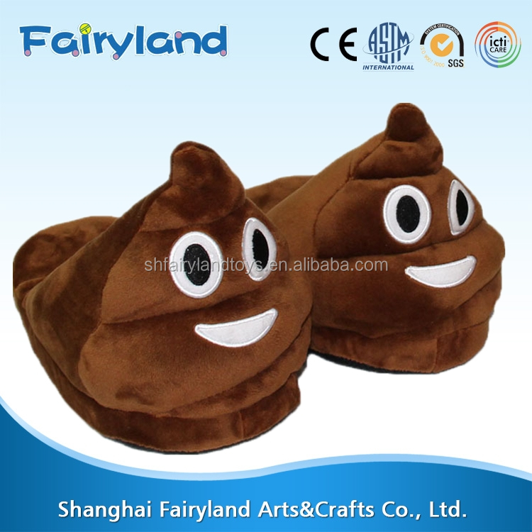 Women and men Plush Slippers Creative Expression emoji face funny indoor Shoes