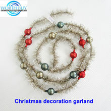 Vintage tinsel & beads decorated mini tinsel garland manufacturer