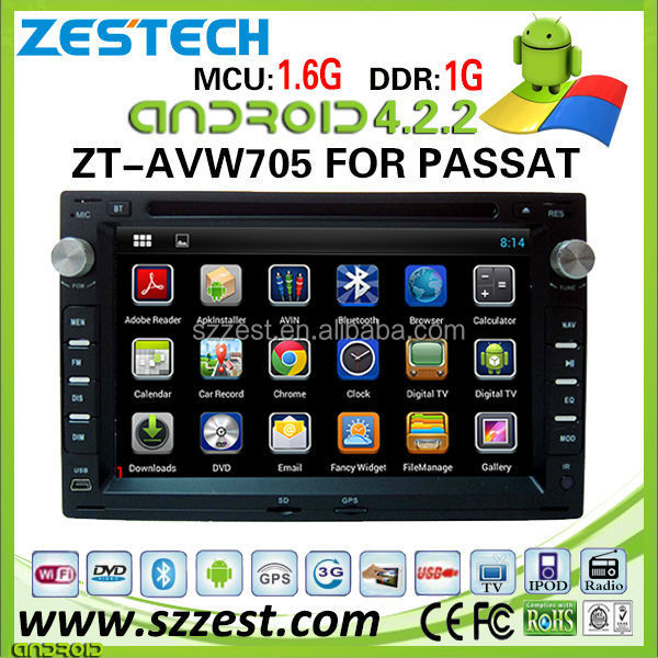 ZESTECH car dvd player for VW Passat car dvd player DVR Android 4.2.2 capacitive multi touch screen