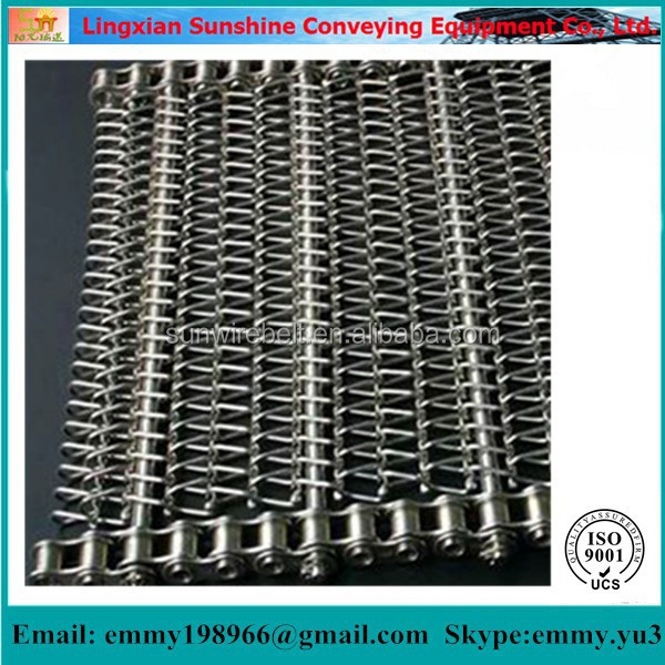 Stainless Steel 304 Wire Mesh Conveyor Belt Chain Conveyor Chain