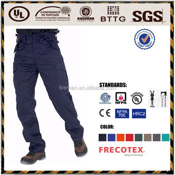 Industry workwear pants trousers hot sales safety flame retardant waterproof clothing for industry workers