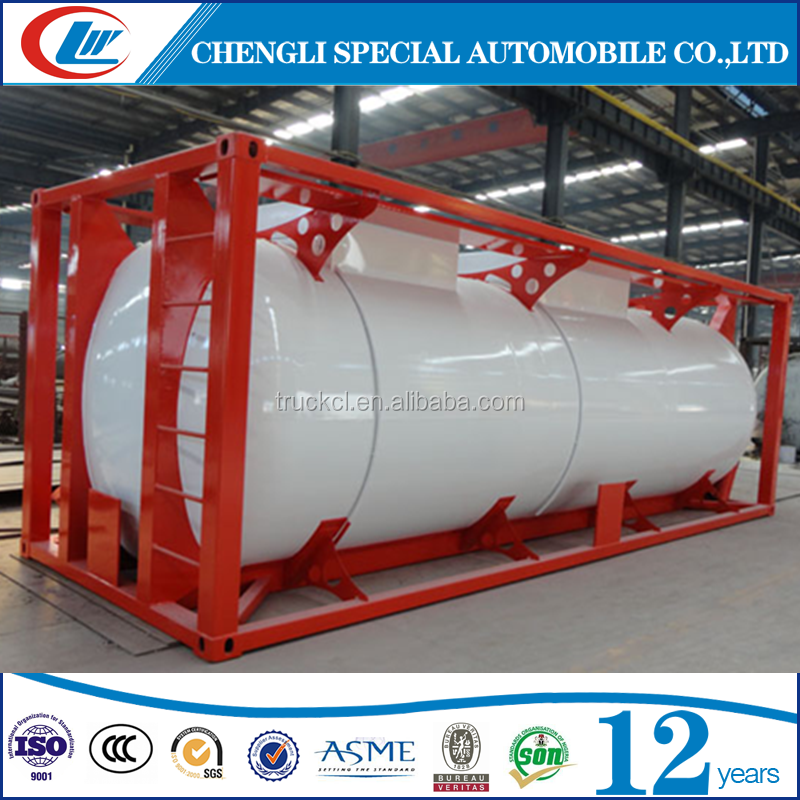 Top safety 40ft propane gas 20' lpg iso tank containers for sale in Africa Market