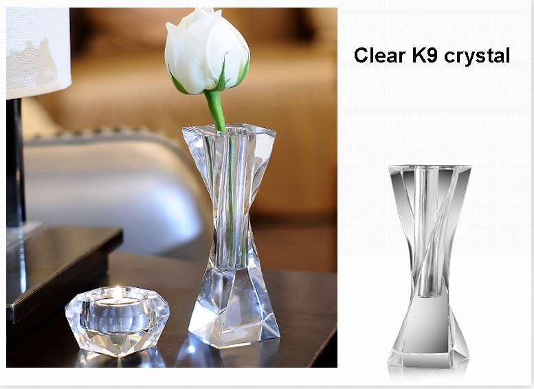 Factory Wholesale Antique Imitation High Quality Twist Design Bohemia Crystal Vase