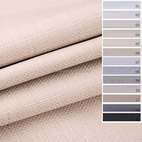 Linen look 3 Pass Blackout Curtain Fabric Drapery Fabric