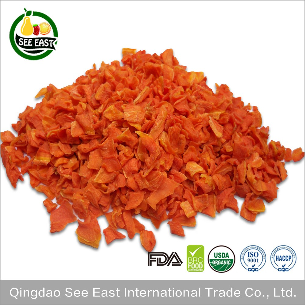 100% Natural instant vegetables AD dehydrated organic dried carrot