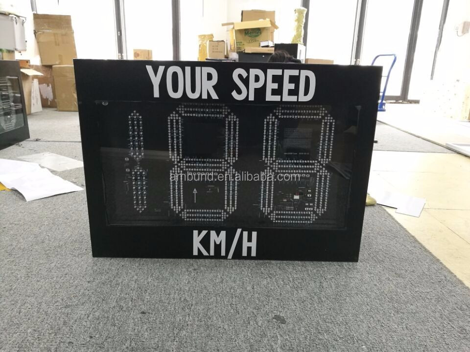 Speed Limit Road LED Sign Solar Power Speed Radar Sign