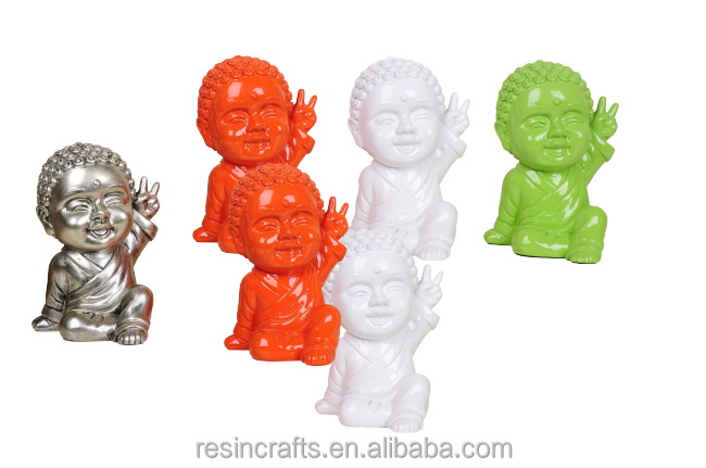 Factory wholesale customized antique imitated bonze resin crafts figure sculpture RW133B