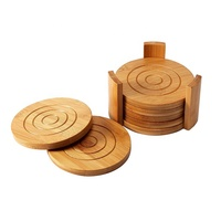 Eco-Friendly Bamboo Coaster Natural Bamboo Coaster Set