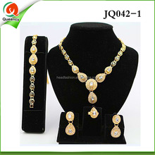 JQ042-1 wholesale ladies indian 18k gold jewelry with good quality