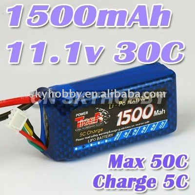 1500mah 11.1v 30c RC Lipo battery airplane/Helicopter battery