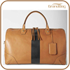large capacity tan leather travel duffel bag vintage weekend shoulder bag leather holdall luggage bag for men