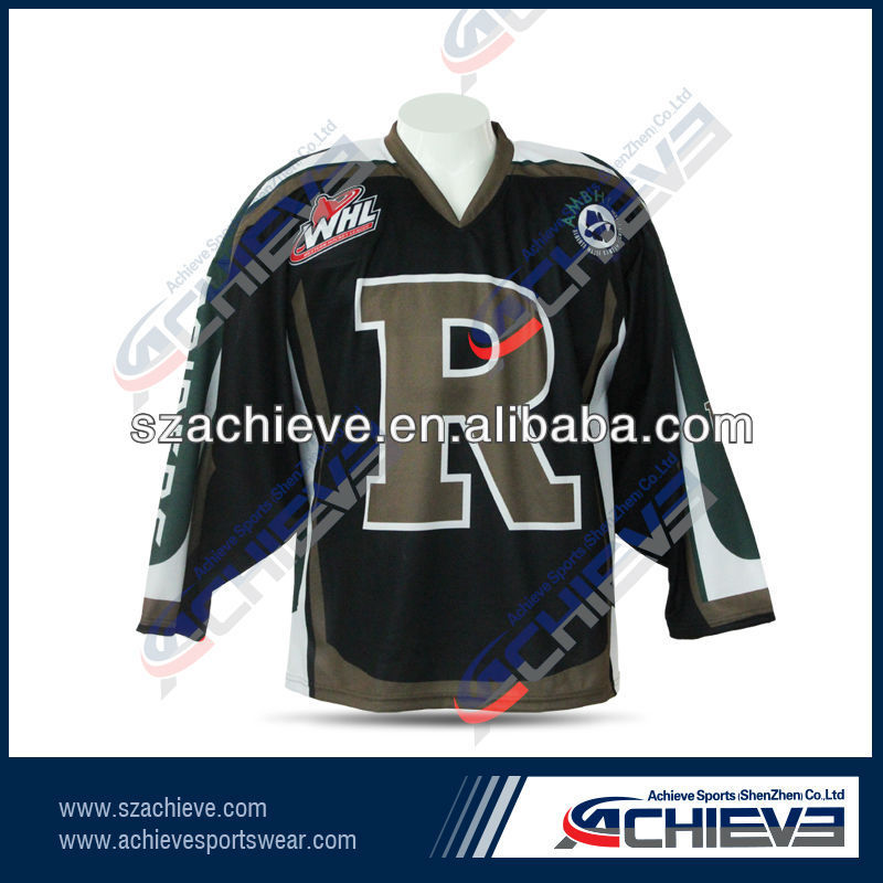 sublimated Child's Ice Hockey Jersey numbers and names ,logos for teams