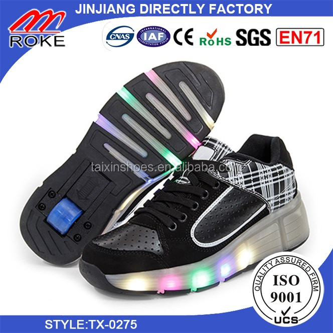 Led Light Casual Shoes with Single Wheel LED Light USB charger shoes For Sale