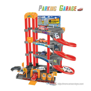 ht-P3488A2 Parking garage playset