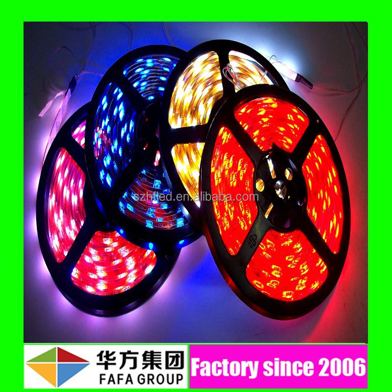 Ce Rohs Certificate high lumens 24v Flexible Waterproof SMD Rgb Led Strip 5050