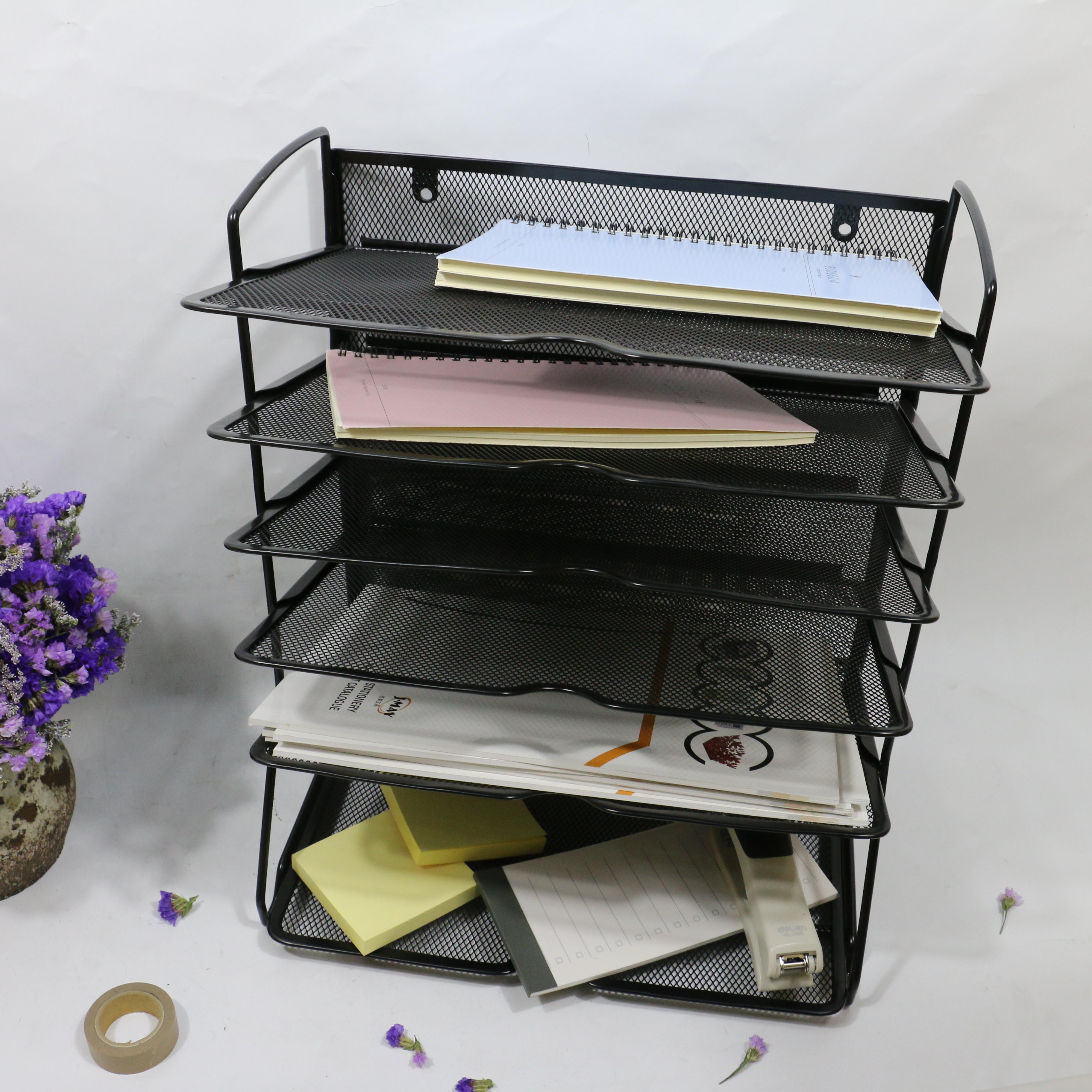 37 Trays Desktop Document Office Desk Paper Holder Letter Tray