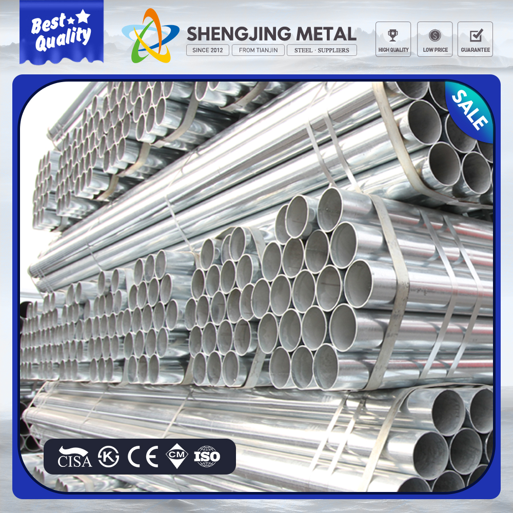 hot dip galvanized steel pipe trading/ Zinc Galvanized Round Steel Pipe for building material
