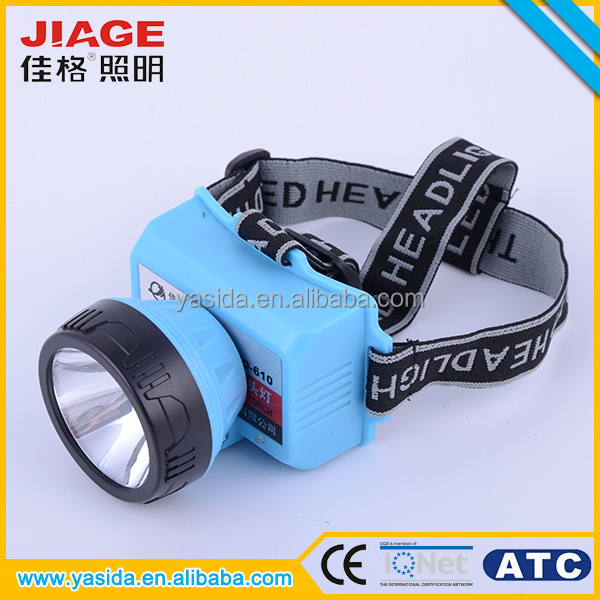 Hunting blue 5 watt rechargeable led headlamp with lithium battery