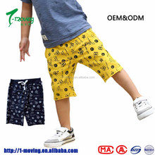 Wholesale Alibaba 2 color cargo Pants beach wear cotton shorts boys wear elastic pants