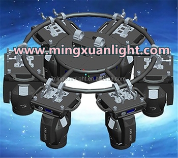 Newest Mini rotating light auto revolving circle stage truss