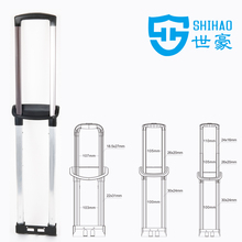 aluminium telescopic handle, trolley handle for luggage,flush pull handle