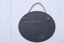round shaped natural slate writing tablet memo board