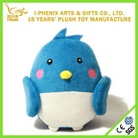 Factory direct sale funny children toys blue love birds stuffed plush bird toys