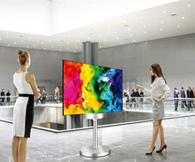 High-tech 55-inch double-sided OLED screen digital advertising display application in public places