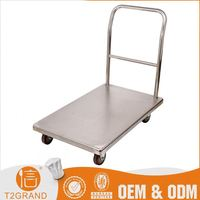 Hot New Products Stainless Steel Mobile Logistic Trolley Cart Go Carts For Sale In China