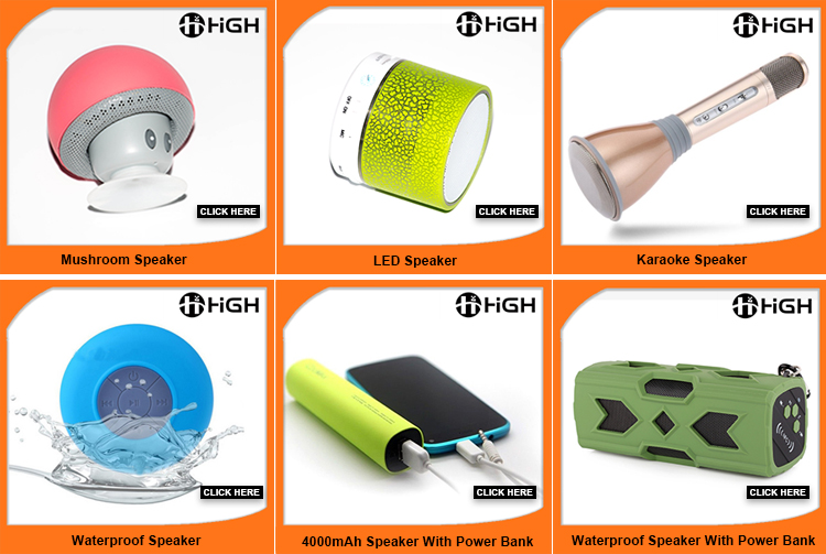 2017 hot sale portable speaker led light