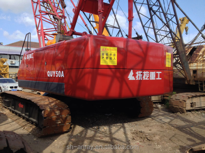 Inexpensive used QUY50 crawler crane, 50 ton crane from China on sale