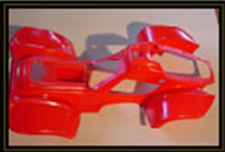 cheap red plastic chinese atv body parts
