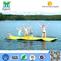 Multifunctional durable buoyant custom swimming pool floats/durable buoyant floating water mat buy gym equipment online