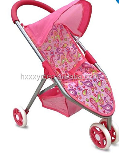 Baby Doll 3-Wheel Jog Stroller, Pink Paisley