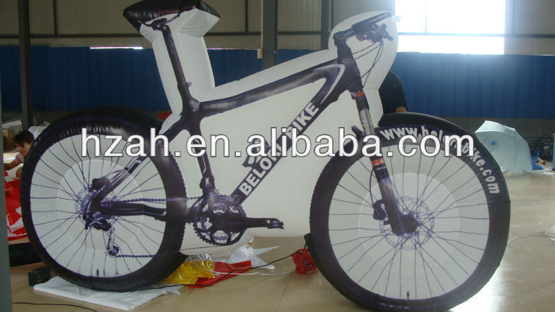 Newest Advertising Inflatable Bicycle Model Shape