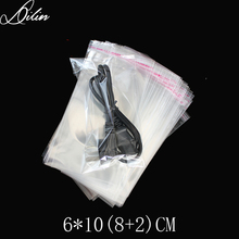 6x10CM totally transparent bag with adhesive seal