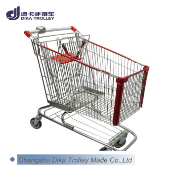 supermarket shopping push cart American type