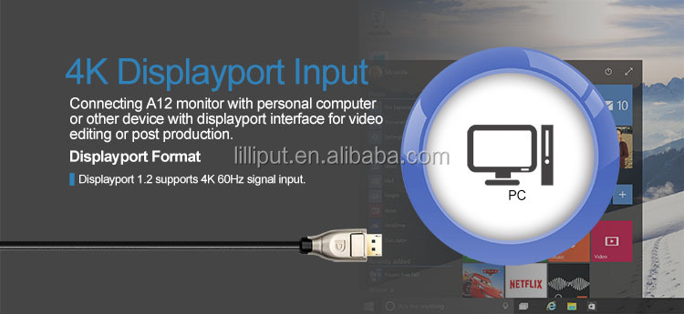 "Lilliput The world's first 12.5"" 4K broadcast monitor."