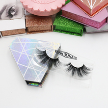Wholesale Mink Lashes Fluffy Mink Eyelashes With False Eyelash Packaging Box