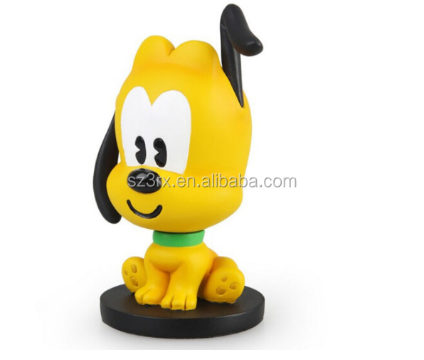 Custom Design Plastic Cartoon Yellow Dog Vinyl Figure Toy Manufacturer,Make Custom Vinyl Figure Toys PVC, OEM Vinyl Toy Figure