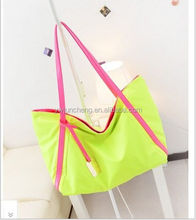 newest pattern fashion wholesale girl relaxation fluorescence candy color shopping tote bag