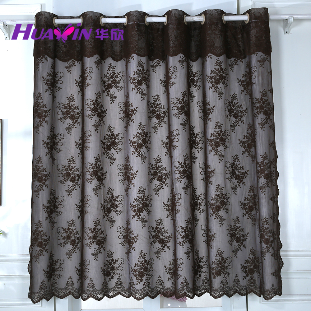 lastest design the cheapest eyelet swiss lace curtains