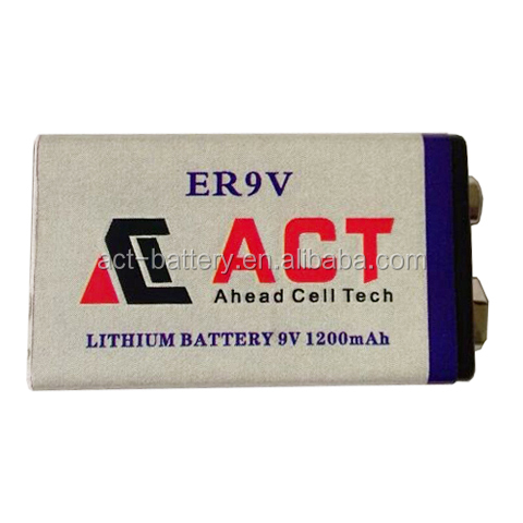 CE/ROHS/UL/UN38.3 approved lithium 1200mAh Smoke Detector Battery 9V